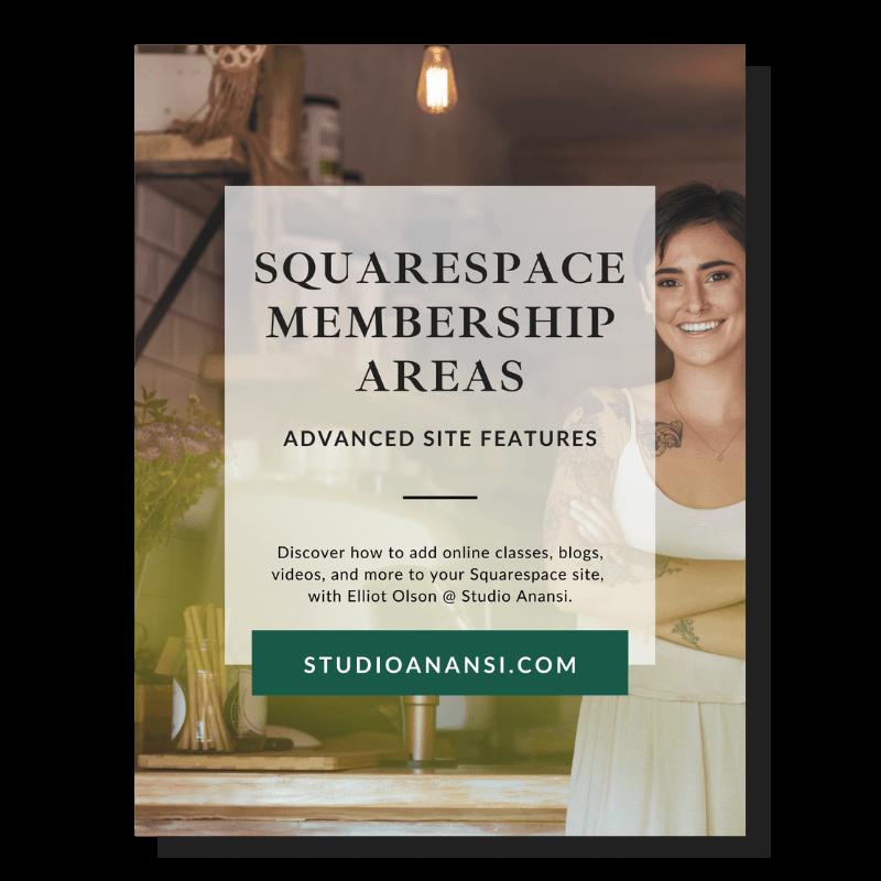Guide to squarespace membership areas.