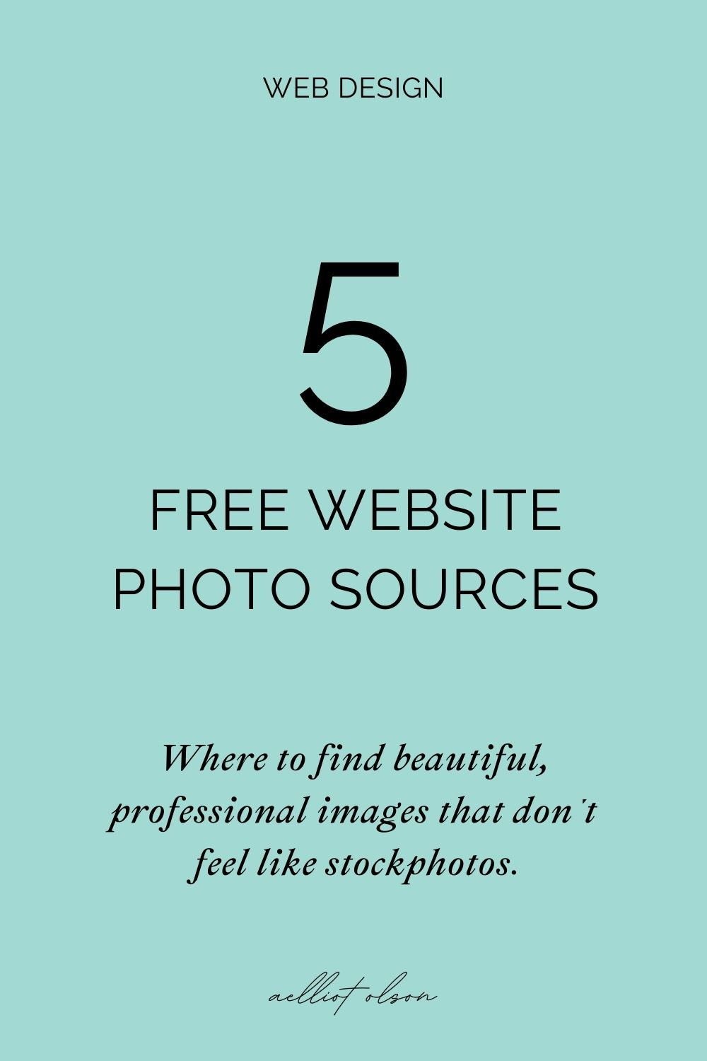 5 free website photo sources. Where to find beautiful, professional images that don't feel like stockphotos.
