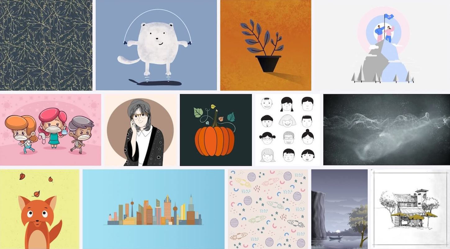 Collection of illustrations from pixabay