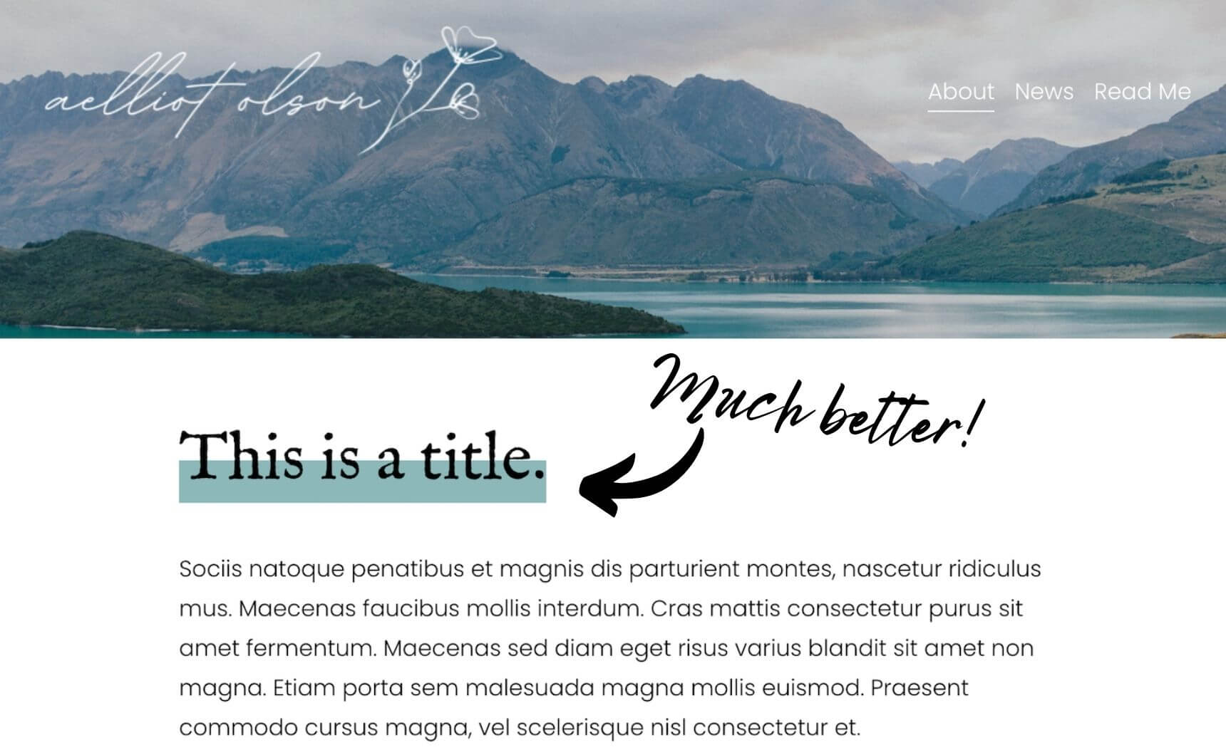 Fixed example of text highlights in squarespace