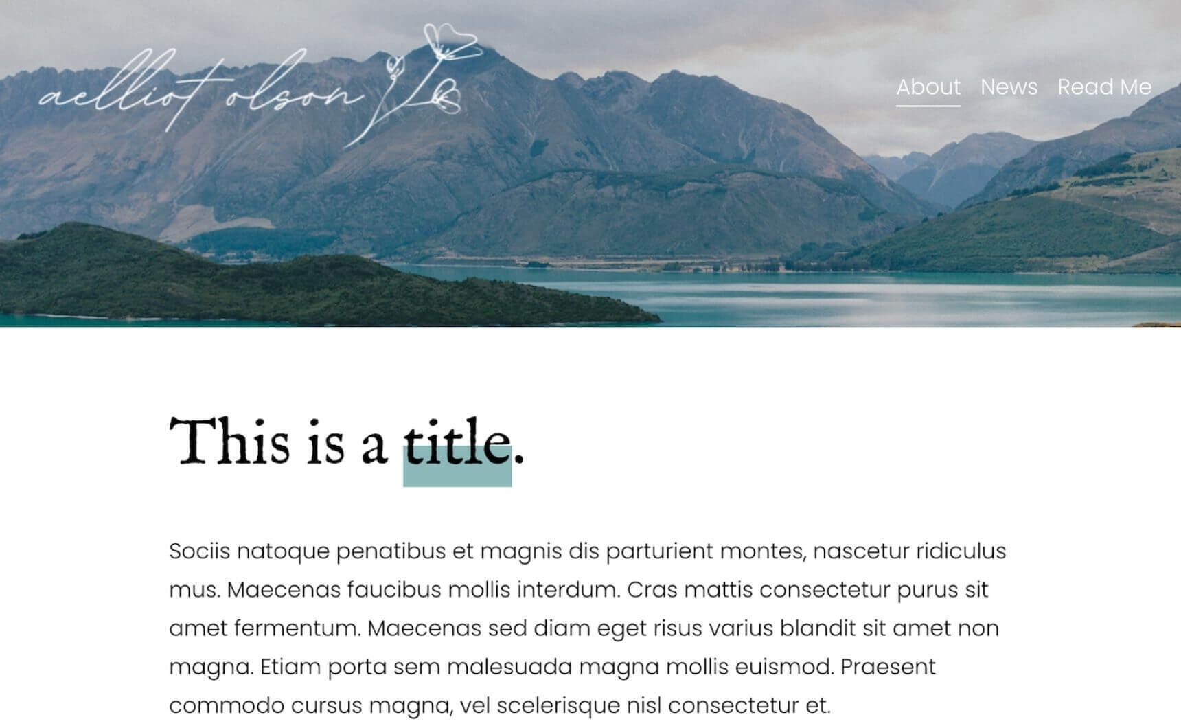 Example of text highlight in Squarespace