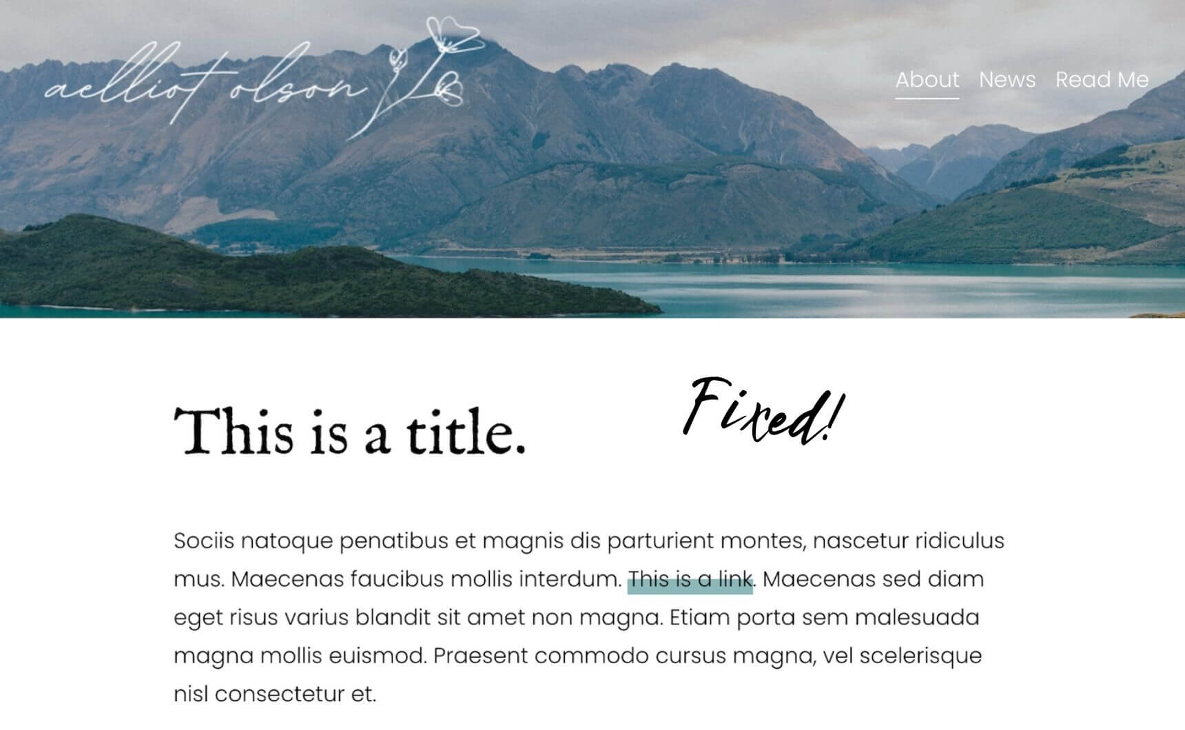 Fixed example of link highlights in Squarespace