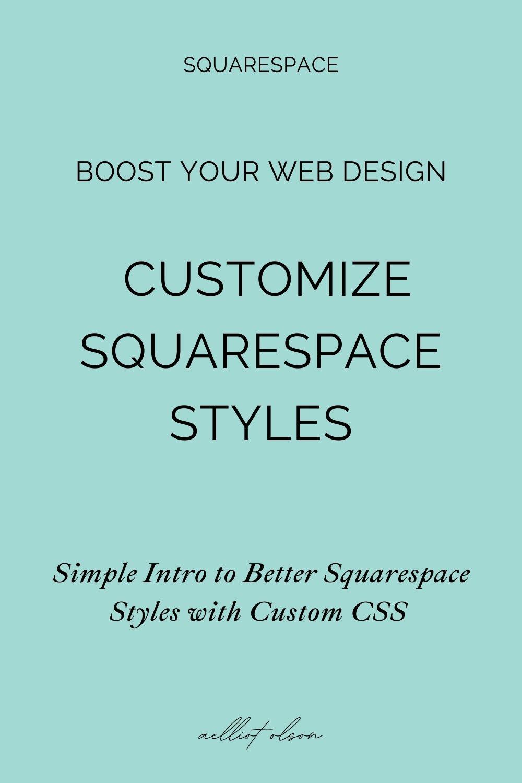 squarespace easy css custom style post