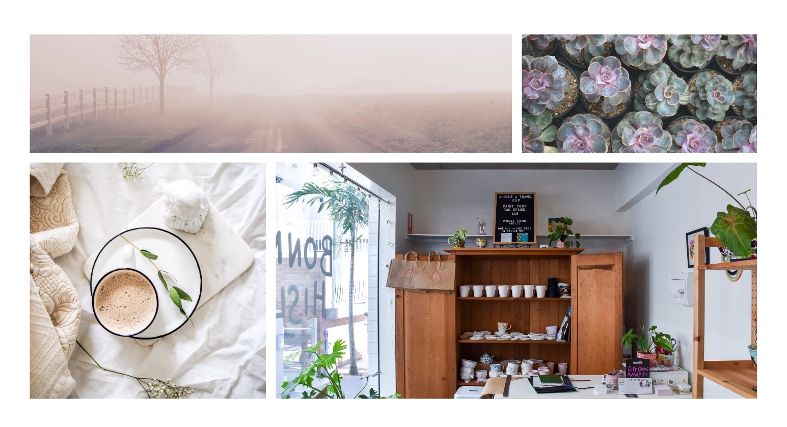 Example of images for boutique shop