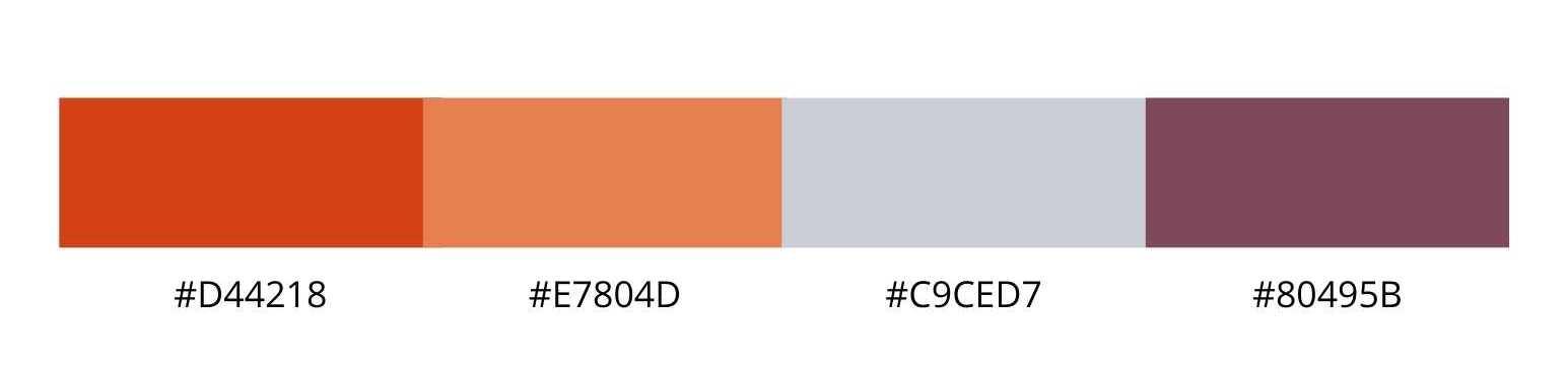 Color palette for gym website