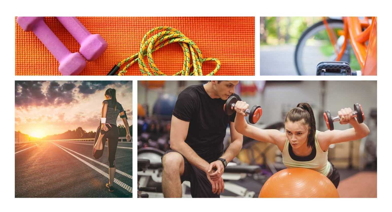 Example of images for fictional gym