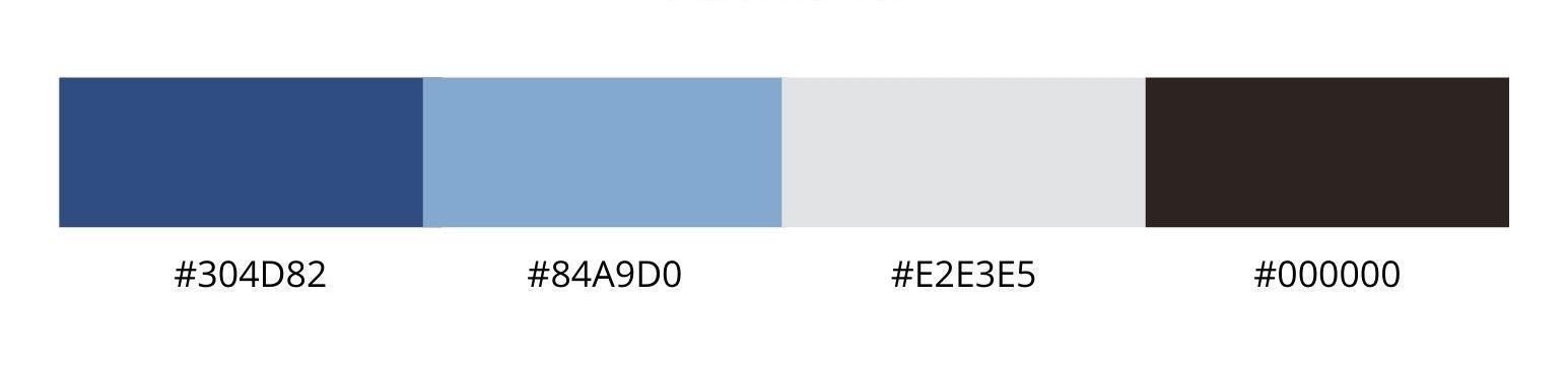 Color palette showing color codes
