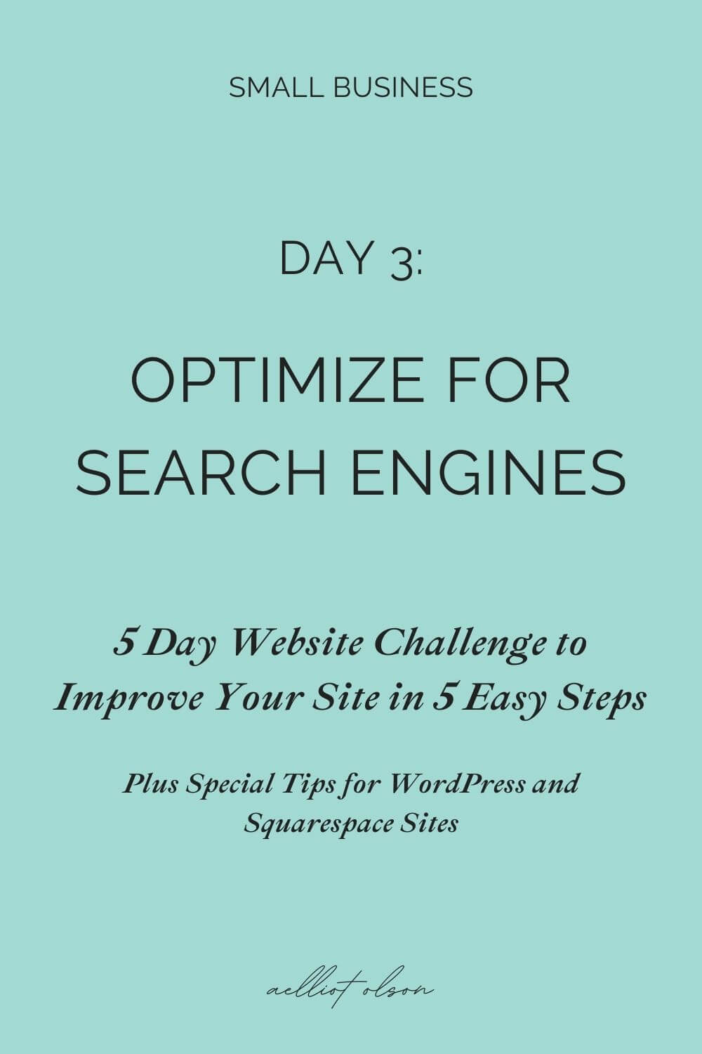 One easy test for website search engine optimization (SEO).