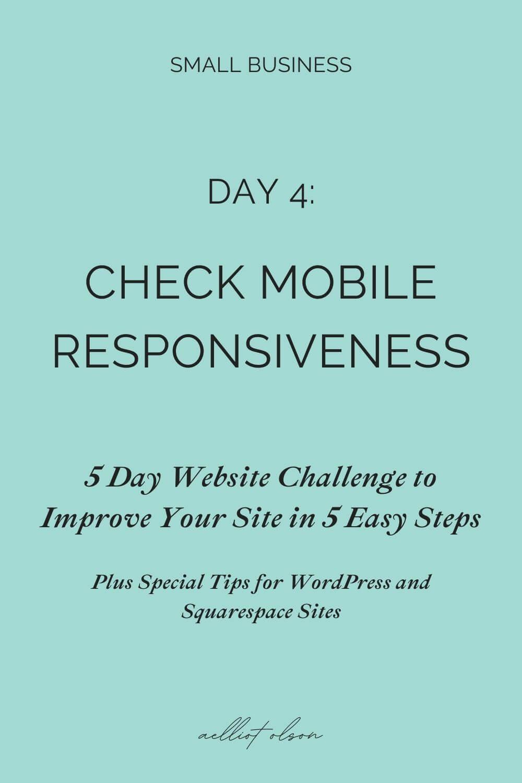Test your website for responsive mobile design.