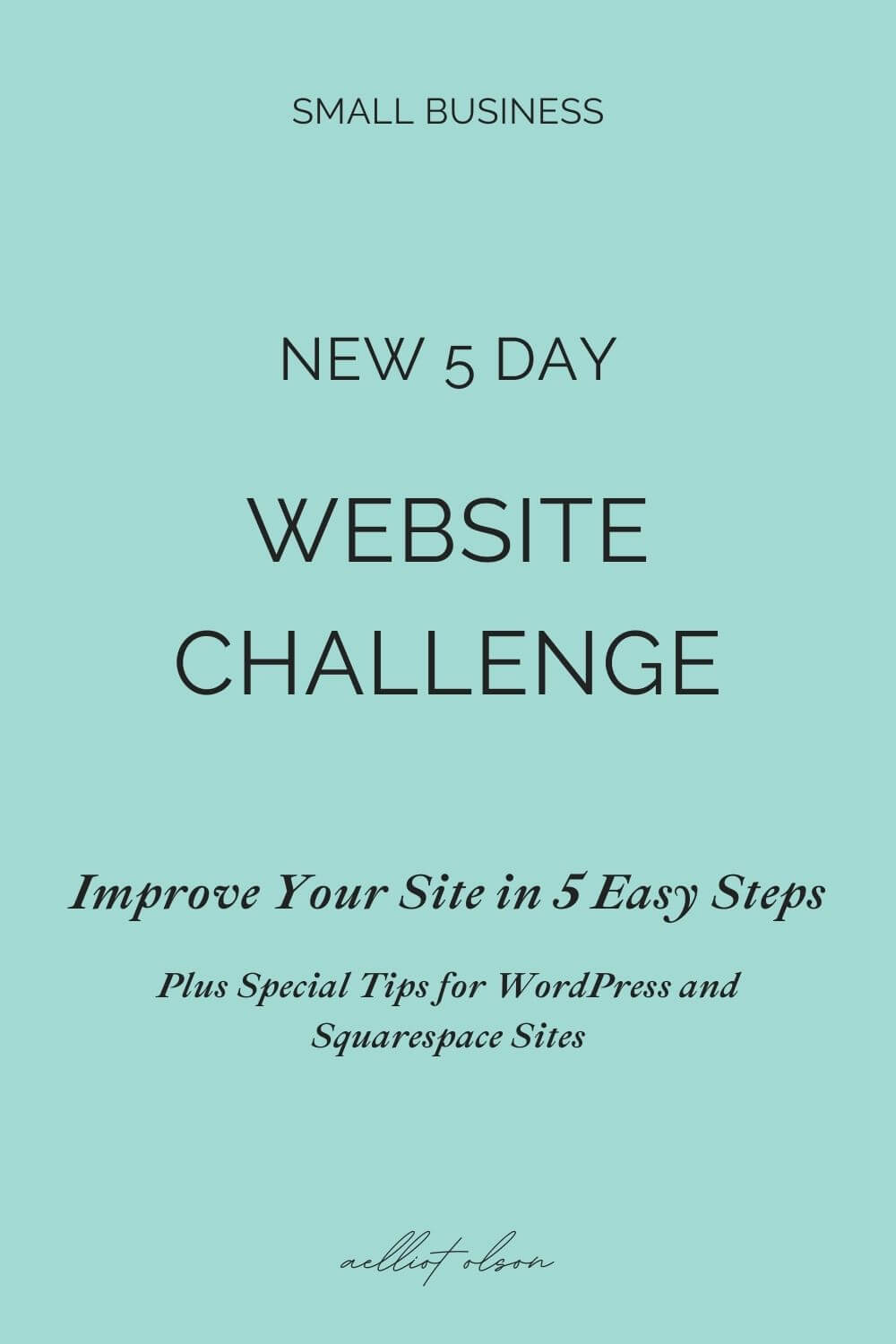 Improve website and make it work better with a 5-day challenge.