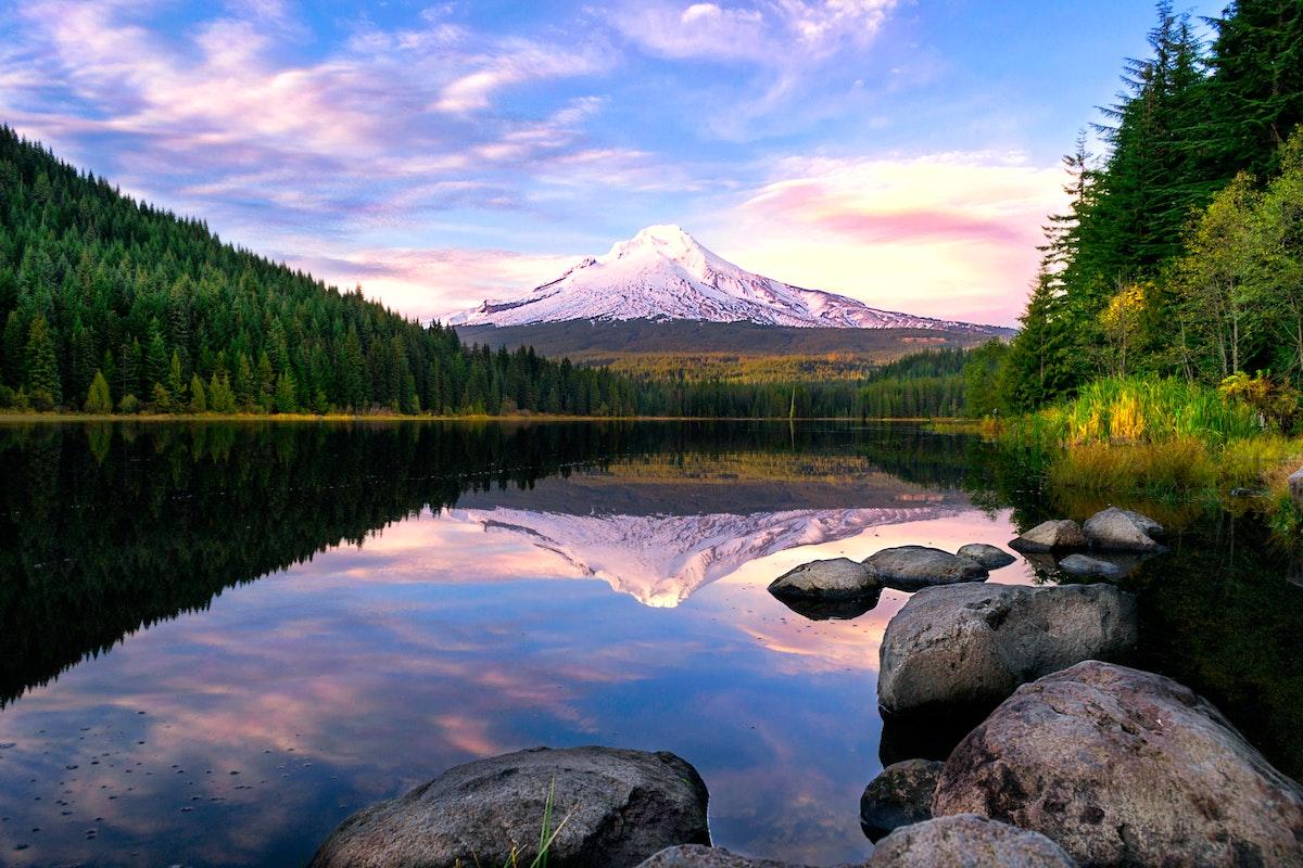 View of Mount Hood near Portland Oregon